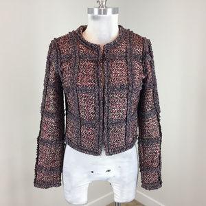 Diane Von Furstenberg Xs 2 Wool alpaca Blazer pink
